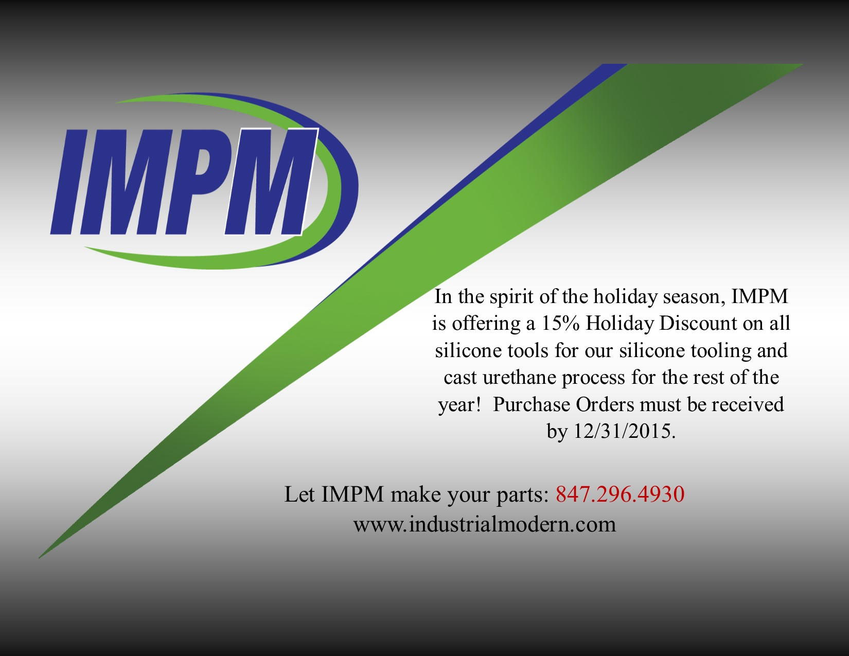 2015 Holiday Discount